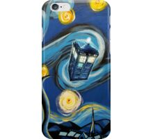 Blue Tardis Starry Night iPhone Case/Skin