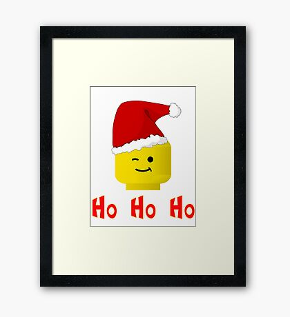 Santa Ho Ho Ho Minifig by Customize My Minifig Framed Print