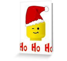 Santa Ho Ho Ho Minifig by Customize My Minifig Greeting Card