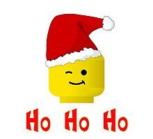 Santa Ho Ho Ho Minifig by Customize My Minifig Photographic Print