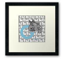 g for gargoyle Framed Print