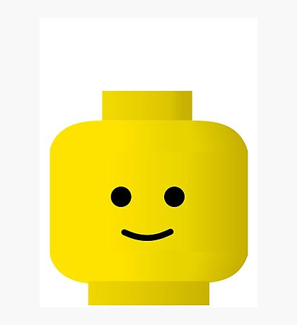 Smiley Minifig Head by Customize My Minifig Photographic Print