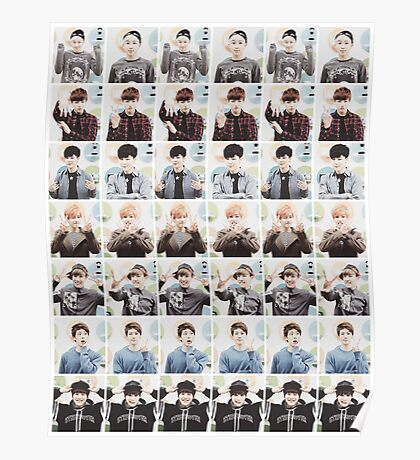 BTS/Bangtan Sonyeondan - Checkered Photos Poster