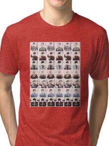 BTS/Bangtan Sonyeondan - Checkered Photos Tri-blend T-Shirt