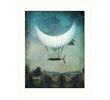The Moon Ship Art Print