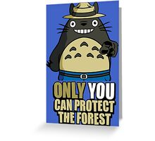 Protect The Forest Greeting Card