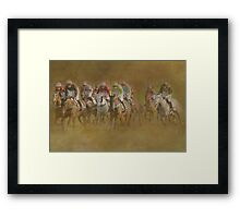 They're Off!!! Framed Print