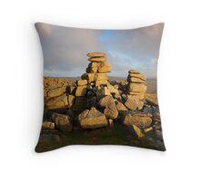 Staple Tor - Dartmoor National Park Throw Pillow