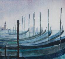 Gondolas in Venice Sticker