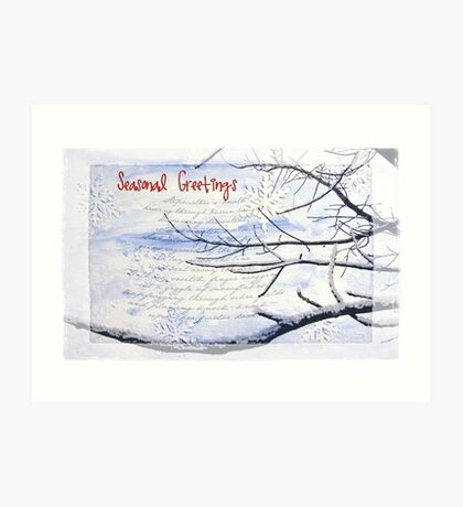 Seasonal Greetings Art Print