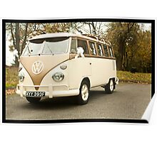 VW Wedding Camper Poster