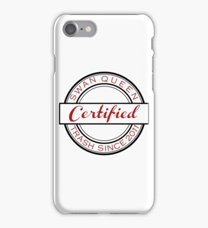 Certified SQ Trash RED iPhone Case/Skin