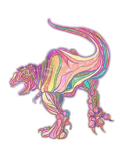 Rainbow Rex by Claudia Hidvégi