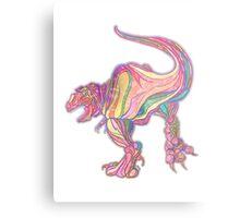 Rainbow Rex Metal Print