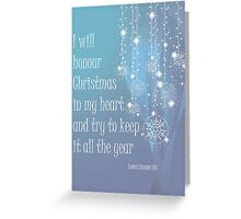 Christmas Card - Charles Dickens Greeting Card