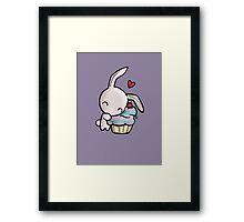 Cupcake Bunny Framed Print