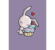 Cupcake Bunny Photographic Print