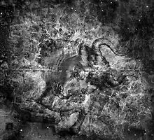 When The Stars Are Right - The Crab Nebula in Taurus (black & white version) by Richard Maier