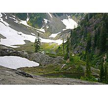 trail in heather meadows, wa, usa Photographic Print