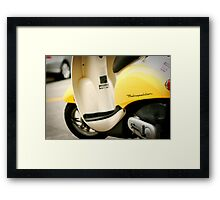 Bright Yellow Metropolitan Scooter Framed Print