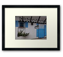 My home - Me casa Framed Print