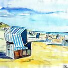 Island Feeling Beach Scene on Sylt North Friesland by artshop77