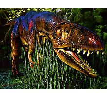 Dinosaur in Reeds Photographic Print