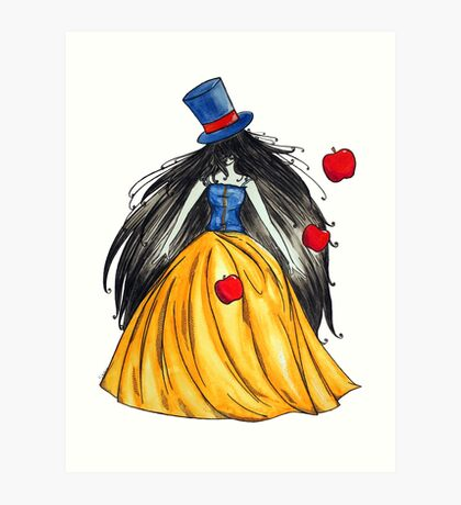 Who is the mad hatter ? Snow White | Blanche Neige  Art Print