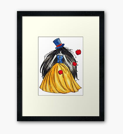 Who is the mad hatter ? Snow White   Blanche Neige  Framed Print