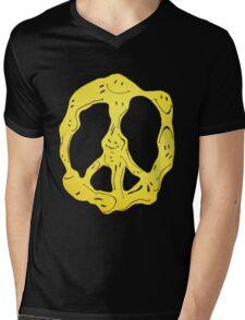 Morph Smiles Peace Sign Mens V-Neck T-Shirt