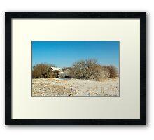 Prairie Winter Framed Print