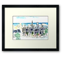 San Francisco Victorian houses Framed Print