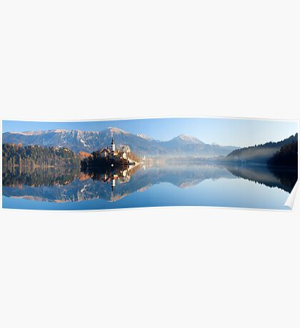 Reflections on Lake Bled Poster