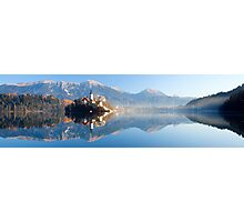 Reflections on Lake Bled Photographic Print