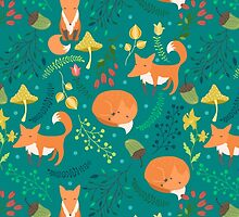 Foxes pattern by JuliaBadeeva