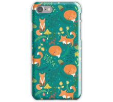 Foxes pattern iPhone Case/Skin