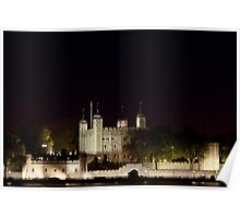 Tower of London at night Poster