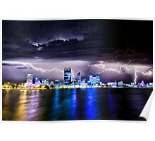 Perth Lightning Storm Poster