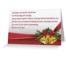 Christmas Card - John Whittier Greeting Card