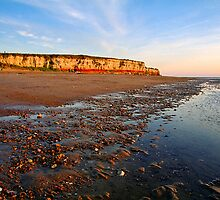 Coatal sunset, Hunstanton Norfolk UK by Gary Rayner