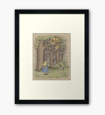 My Neighbor in Wonderland Framed Print