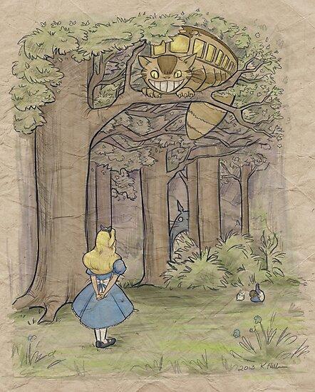 My Neighbor in Wonderland by Karen  Hallion