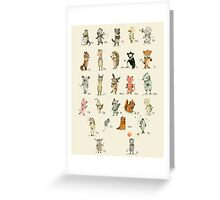ABC Animals Alphabet Poster Greeting Card