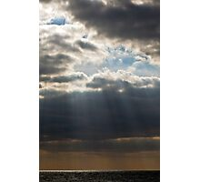 Rays of lght at Yarmouth UK Photographic Print