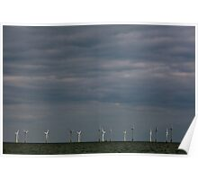 Wind Farm at Scratby sands Poster