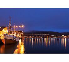 Tromsbrua by Night Photographic Print
