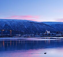 Tromsø Bridge and the Arctic Cathedral by kernuak