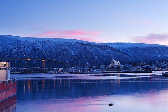 Tromsø Bridge and the Arctic Cathedral by kernuak