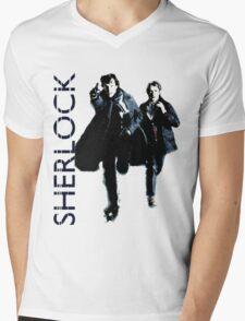 Sherlock Holmes and Doctor Watson! Mens V-Neck T-Shirt