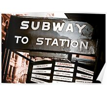 Subway on Flinders Poster